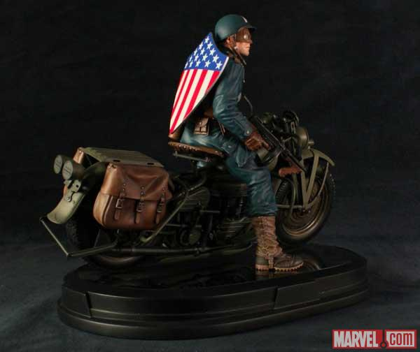 Captain America statue from Gentle Giant