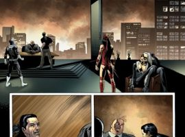 HOUSE OF M: AVENGERS #4 interior art by Mike Perkins