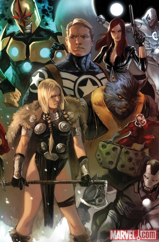 Image Featuring Ant-Man (Eric O Grady), Avengers, Beast, Black Widow, Captain America, Moon Knight, Nova, War Machine (James Rhodes)