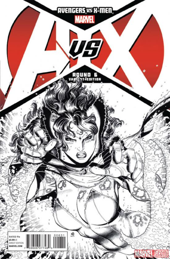Avengers VS X-Men #6 sketch variant cover by Nick Bradshaw