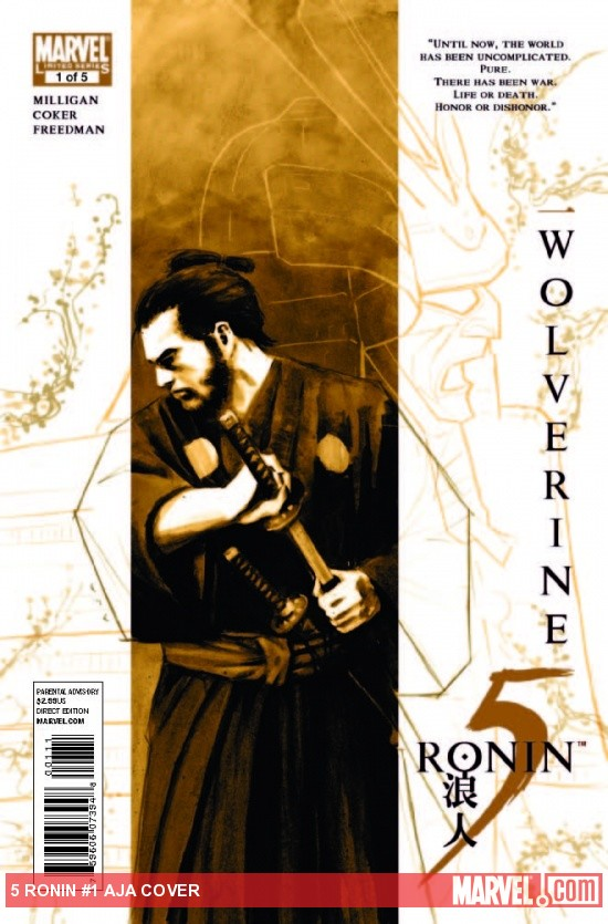 5 Ronin #1 cover by David Aja