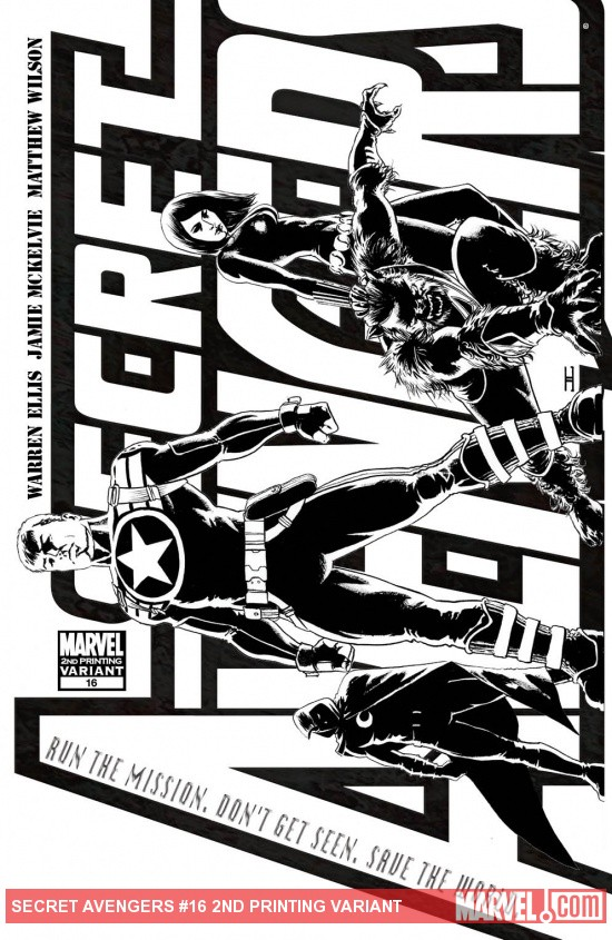 Secret Avengers #16 second printing variant cover by John Cassaday