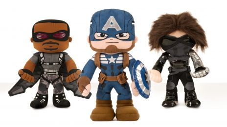 Falcon, Captain America & Winter Soldier plushes from Marvel's Captain America: The Winter Soldier