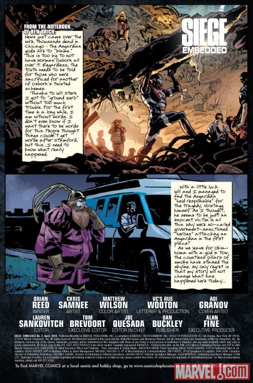 SIEGE EMBEDDED #2 Art by Chris Samnee