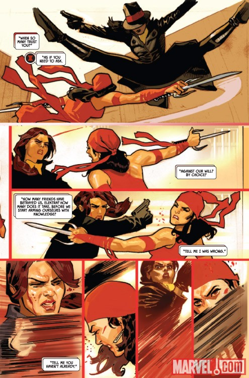 BLACK WIDOW #3 preview art by Daniel Acuna