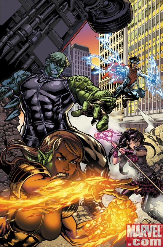 SECRET INVASION: RUNAWAYS/YOUNG AVENGERS cover art by Mark Brooks