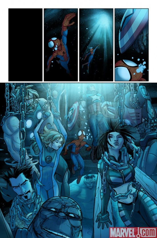ULTIMATE COMICS SPIDER-MAN #2 interior art by David Lafuente
