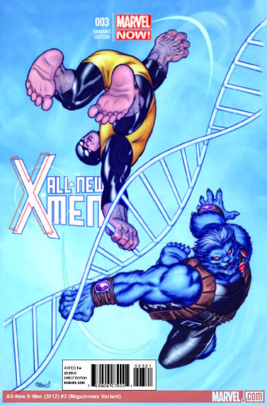 ALL-NEW X-MEN 3 MCGUINNESS VARIANT (NOW, 1 FOR 50, WITH DIGITAL CODE)