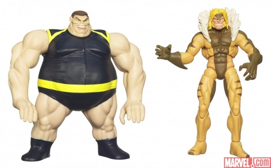 X-Men Origins: Wolverine Blob & Sabretooth action figure twin-pack