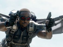 Anthony Mackie stars as Sam Wilson/The Falcon in Marvel's Captain America: The Winter Soldier