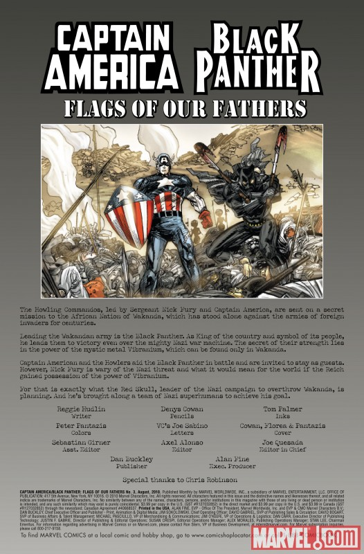 CAPTAIN AMERICA/BLACK PANTHER: FLAGS OF OUR FATHERS #3 recap page