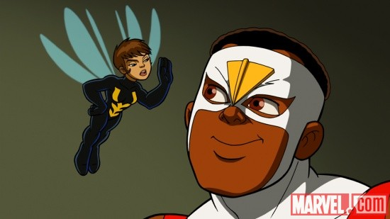 The Wasp and Falcon from The Super Hero Squad