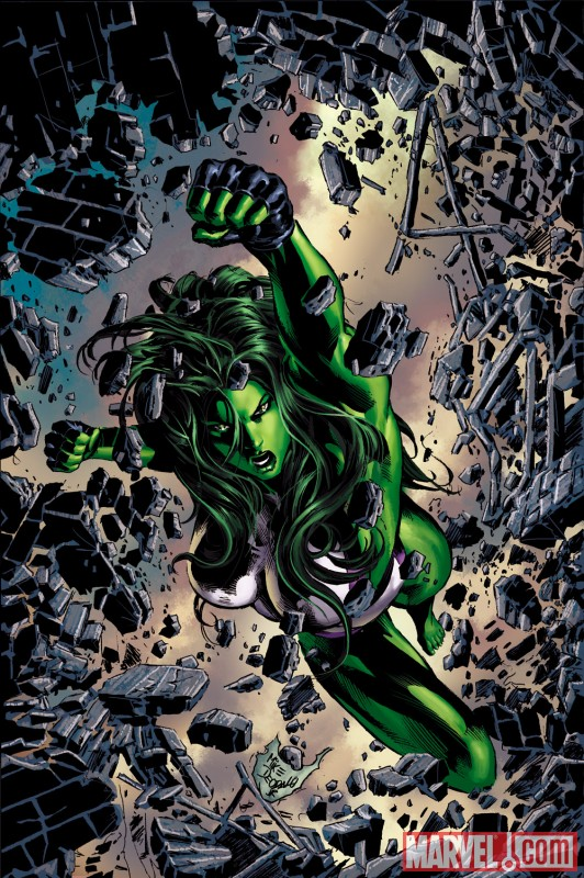 SHE-HULK #27 cover by Mike Deodato