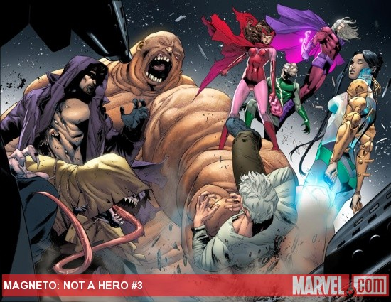 Magneto: Not a Hero #3 preview art by Clay Mann