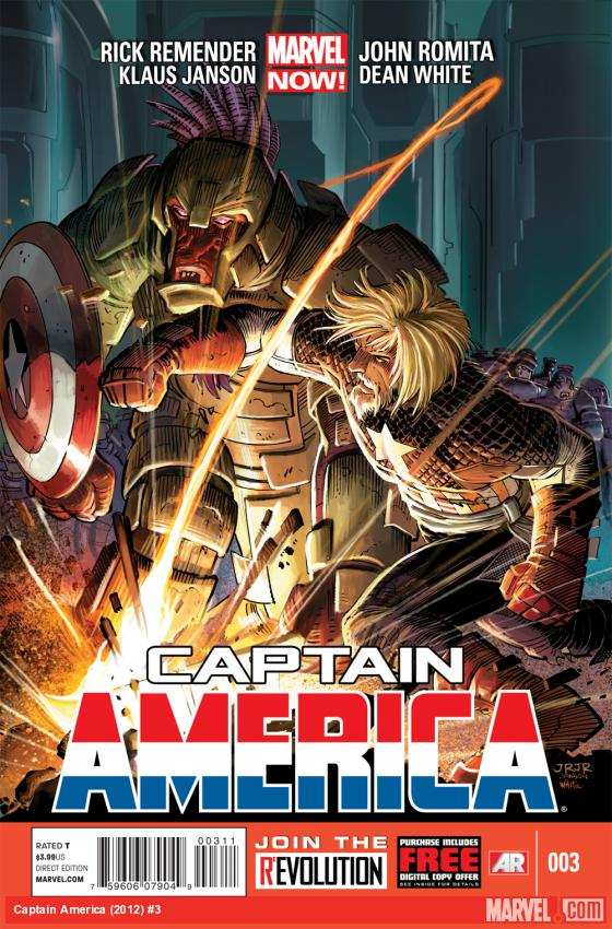 Captain America (2012) #3 cover by John Romita Jr., Klaus Janson & Dean White