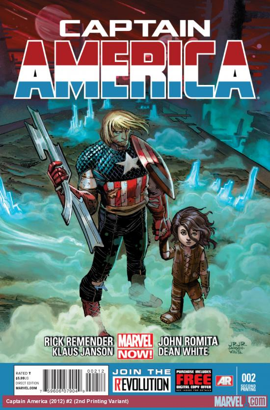 cover from Captain America (2012) #2 (2ND PRINTING VARIANT)
