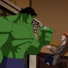 Screenshot of the Hulk and Pepper Potts from The Avengers: Earth's Mightiest Heroes!