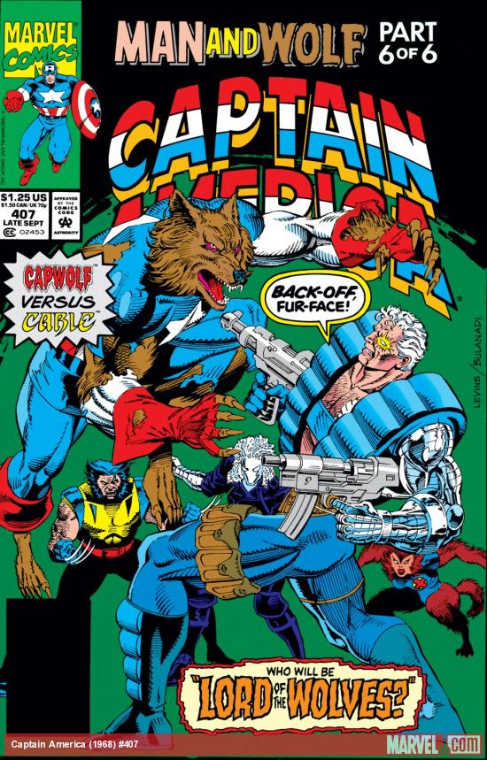 Captain America (1968) #407 Cover