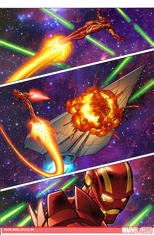 Iron Man #6 preview art by Greg Land