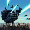 The Helicarrier in The Avengers: Earth's Mightiest Heroes!
