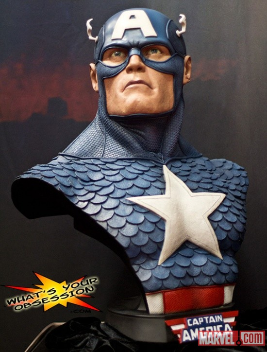 San Diego Comic-Con 2011: Captain America Life-Size Bust from Sideshow Collectibles