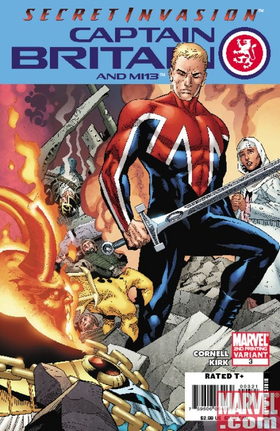 CAPTAIN BRITAIN AND MI: 13 #3 (2nd printing var.)