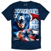 The Marvel/Dallas Cowboys Captain America T-Shirt