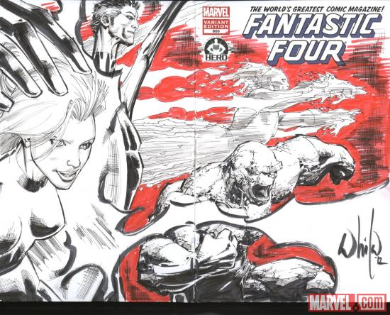 Fantastic Four #600 Hero Initiative variant cover by Whilce Portacio