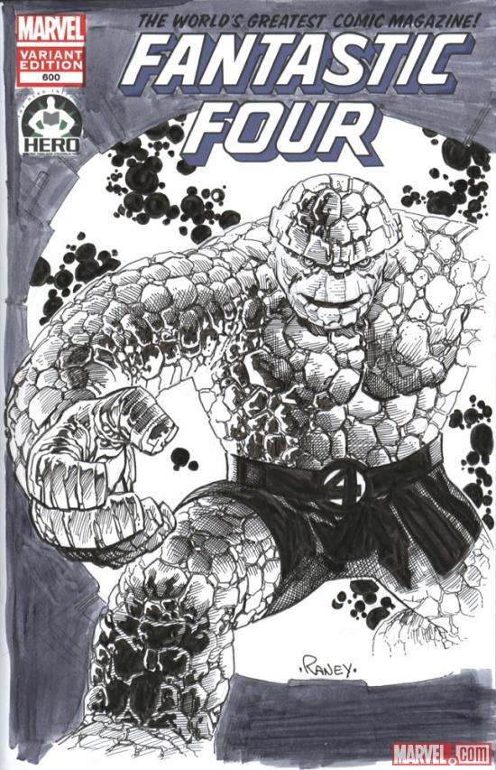 Fantastic Four #600 Hero Initiative variant cover by Tom Raney