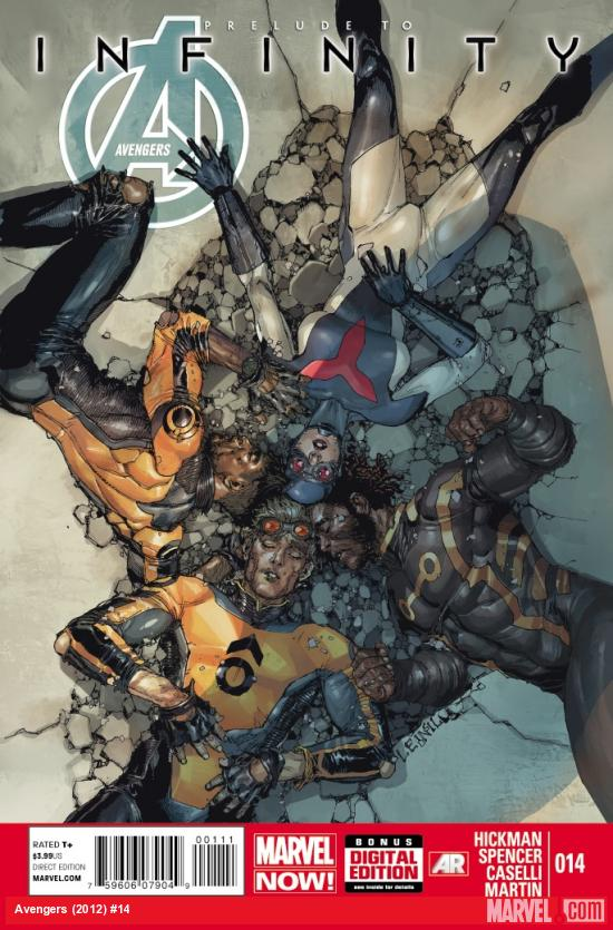 Avengers (2012) #14 cover by Leinil Yu