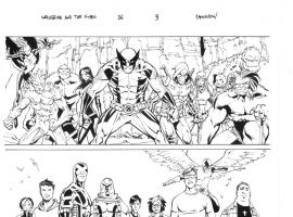 Wolverine & The X-Men #36 preview inks by Giuseppe Camuncoli