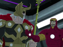 Odin meets Iron Man in Marvel's Avengers Assemble - All-Father's Day