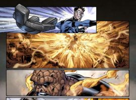 ULTIMATE FANTASTIC FOUR #49 interior art by Mark Brooks