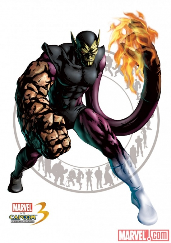 Super Skrull character art from ''Marvel vs. Capcom 3''