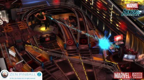 Screenshot from Marvel Pinball: The Avengers for the Wii U.