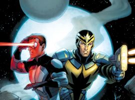 Cyclops and Star-Lord by Dale Keown