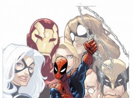 Image Featuring May Parker, Spider-Man, Wolverine, Winter Soldier, Carlie Cooper, Spider-Girl (Anya Corazon), Black Cat, Iron Man