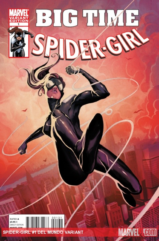 SPIDER-GIRL #1 variant cover by Mike Del Mundo