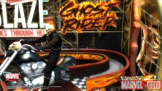 Ghost Rider screenshot from Marvel Pinball: Vengeance and Virtue