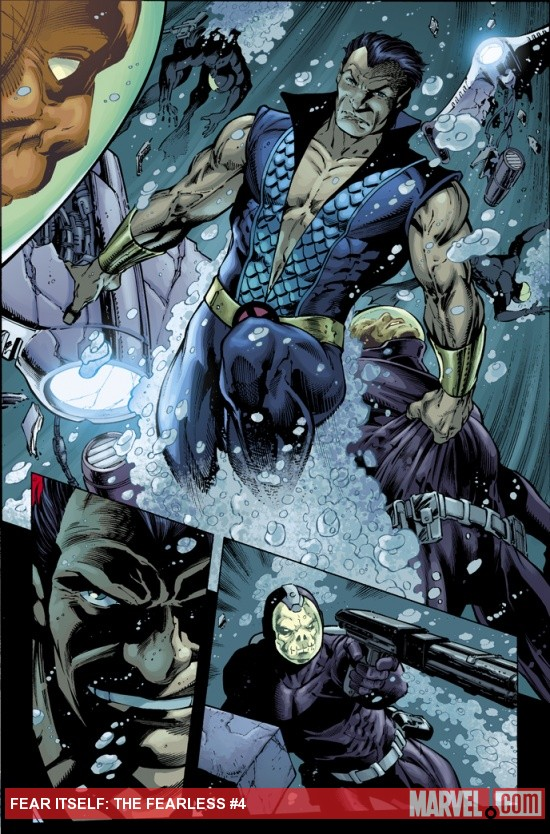 Fear Itself: The Fearless #4 preview art by Paul Pelletier