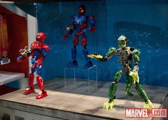 MEGA Brands Spider-Man and The Lizard figures