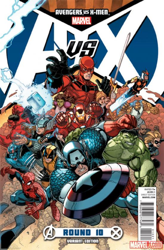 Avengers VS. X-Men #10 variant cover by Nick Bradshaw