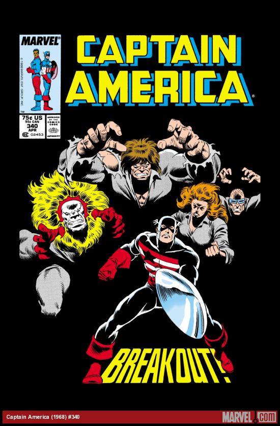 Captain America (1968) #340 Cover