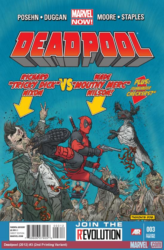 cover from Deadpool (2012) #3 (2ND PRINTING VARIANT)