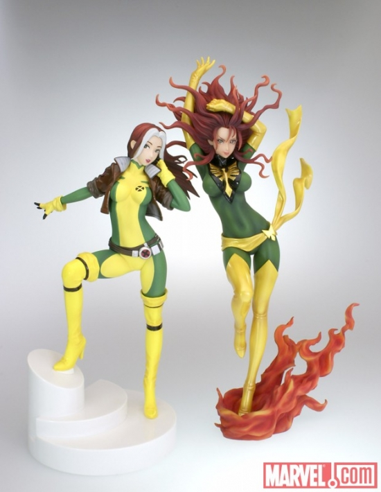 Phoenix and Rogue Bishoujo Statues from Kotobukiya