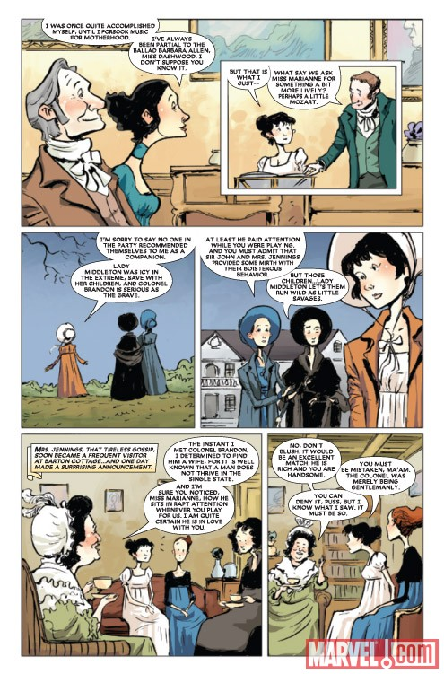 SENSE & SENSIBILITY #2 preview art by Sonny Liew