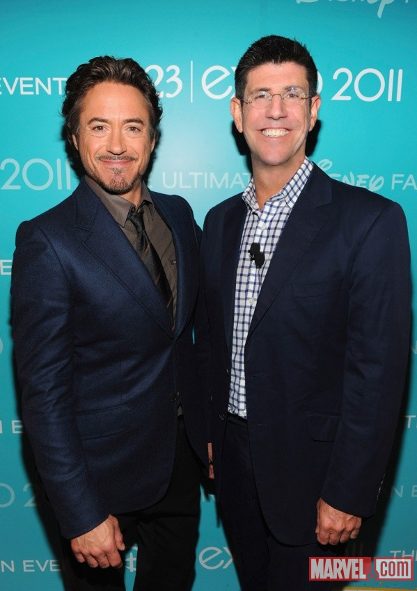 Robert Downey, Jr. and Rich Ross at D23 2011