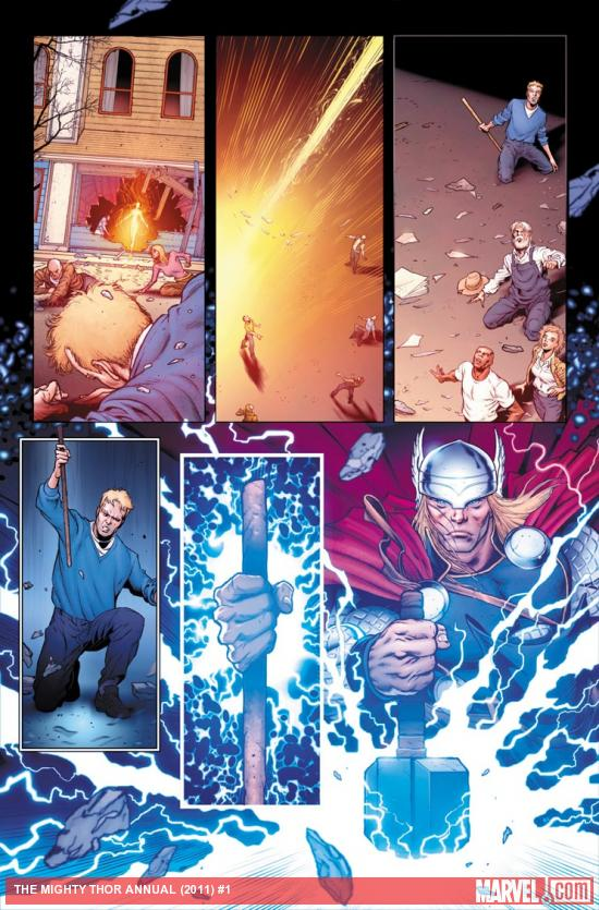 The Mighty Thor Annual #1 preview art by Rich Elson