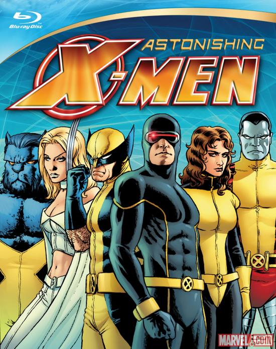 Astonishing X-Men 2-Disc Blu-ray Collection box art by John Cassaday