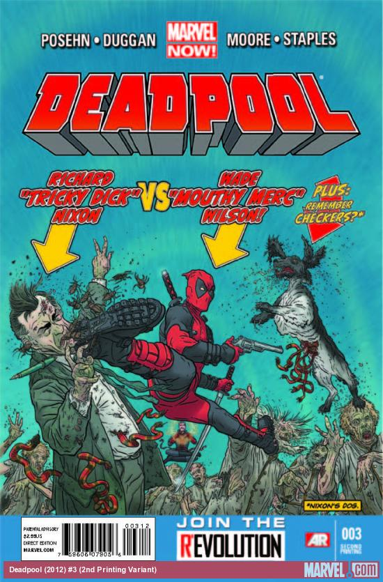 DEADPOOL 3 2ND PRINTING VARIANT